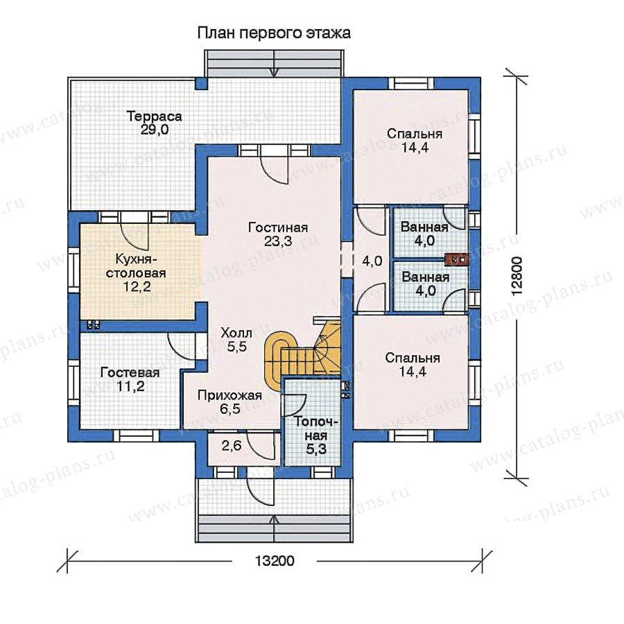 План 1-этажа проекта 52-56
