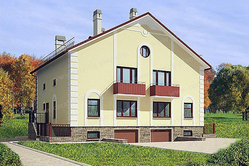 Проект жилой дом #52-80 материал - газобетон, стиль классический