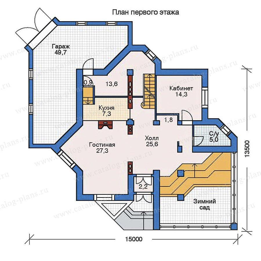 План 2-этажа проекта 52-23