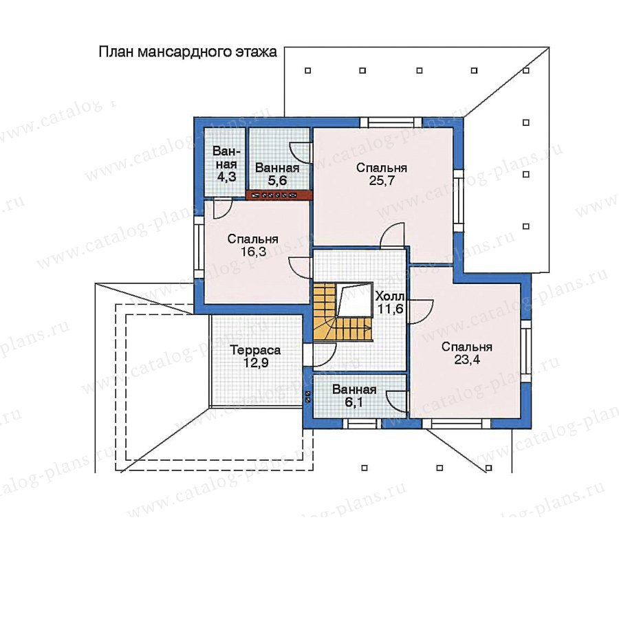 План 2-этажа проекта 52-58