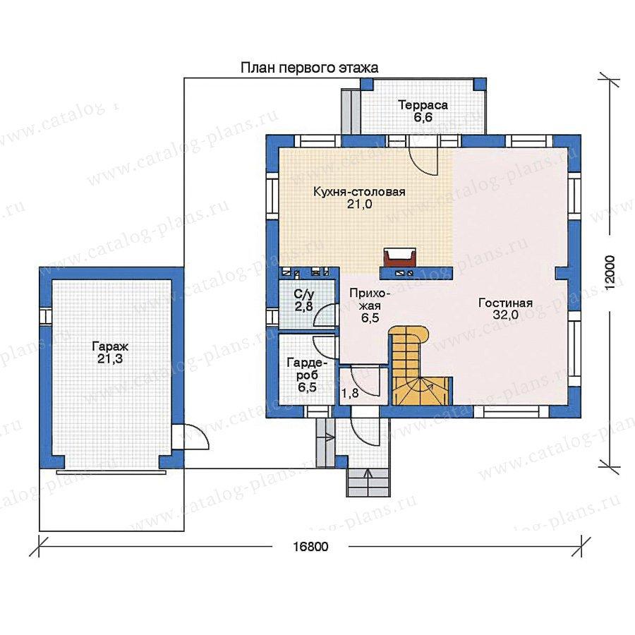 План 1-этажа проекта 52-55