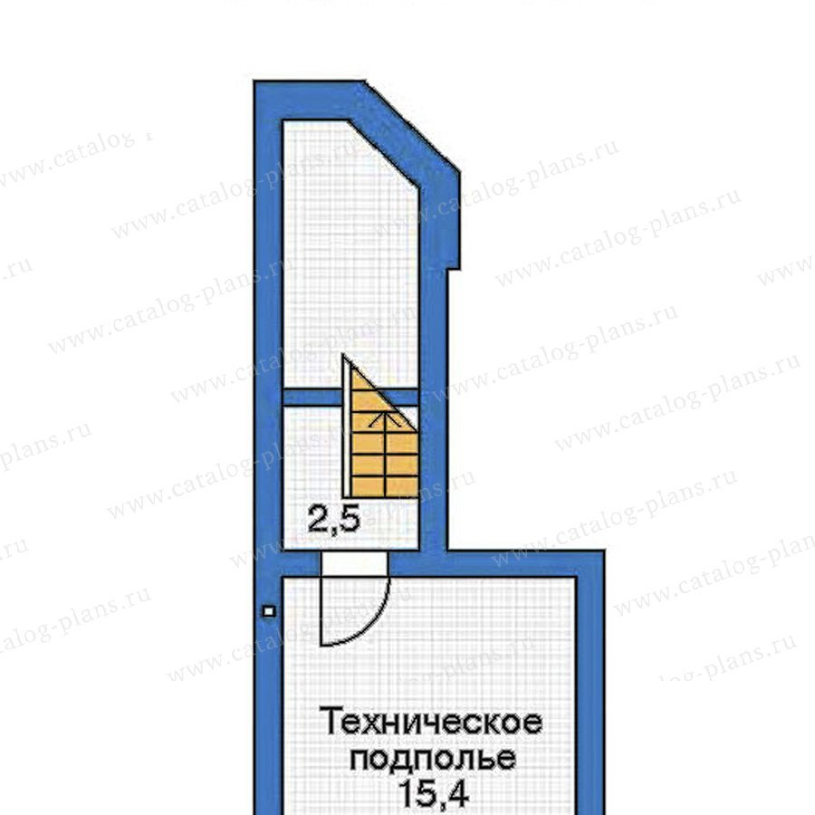 План 1-этажа проекта 52-23