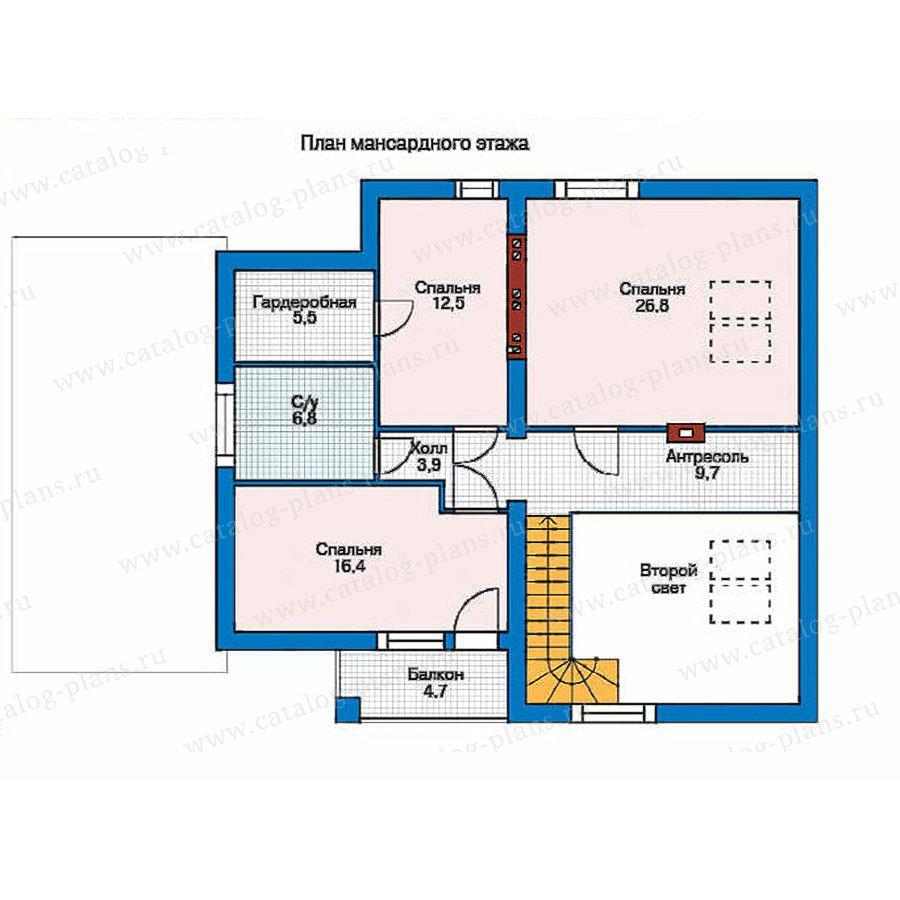 План 2-этажа проекта 52-49