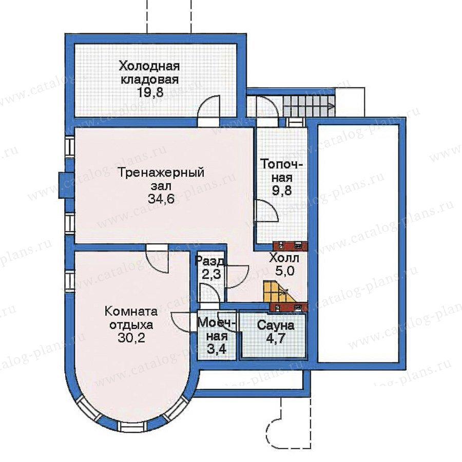 План 1-этажа проекта 52-52