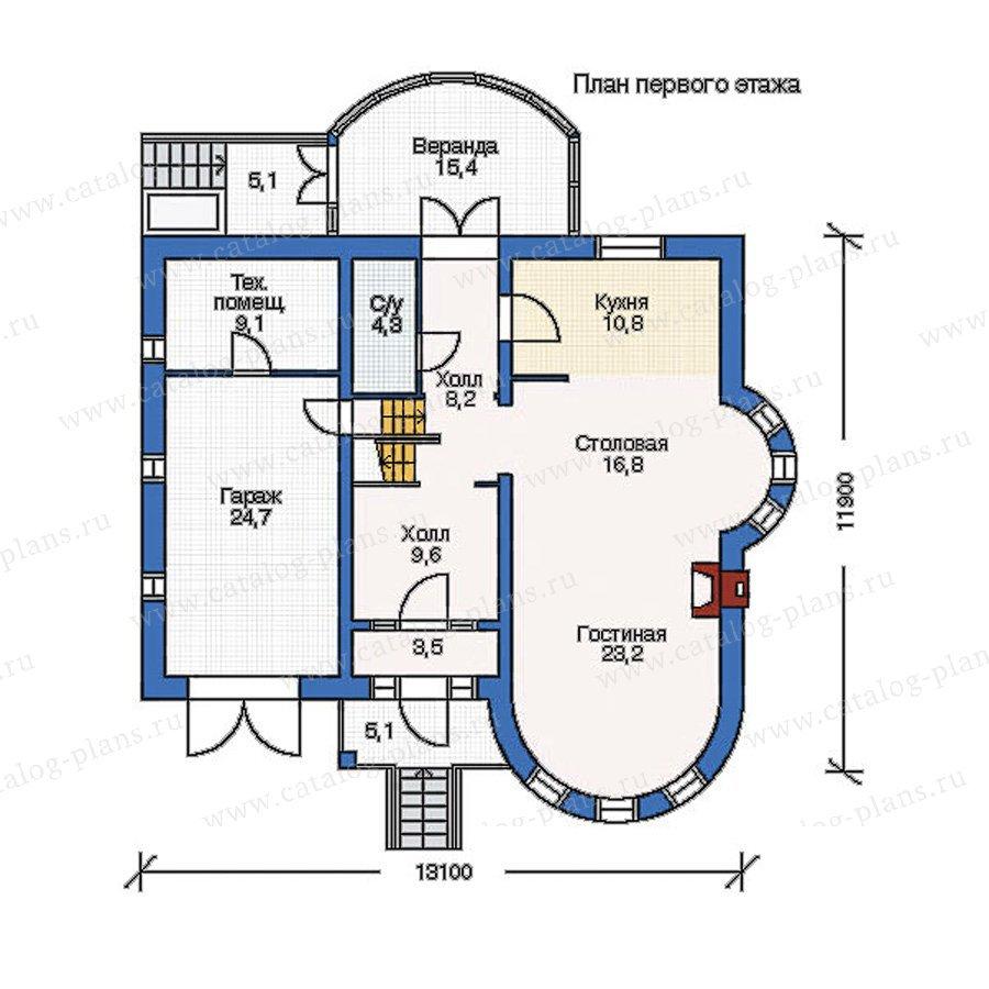 План 1-этажа проекта 53-06