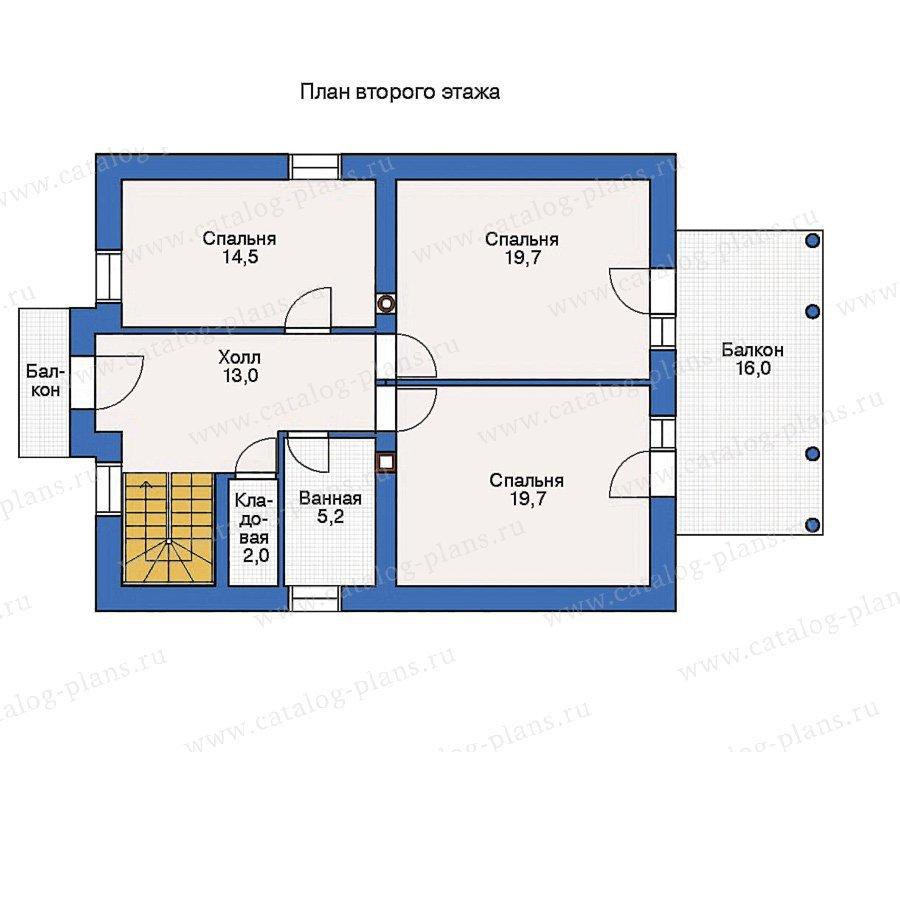 План 2-этажа проекта 53-20