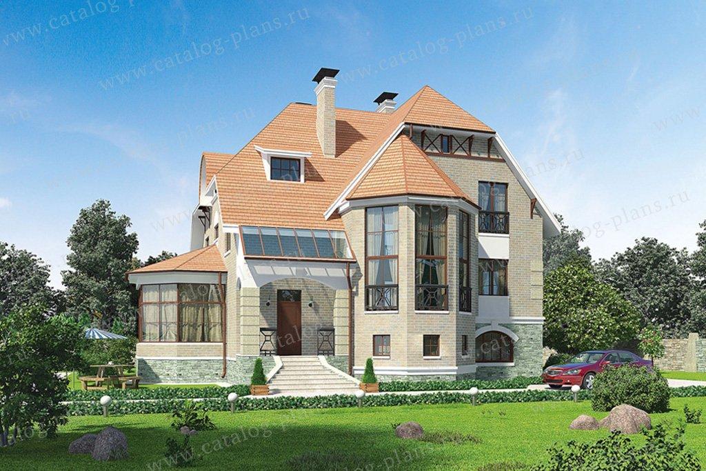 Проект жилой дом #53-28 материал - кирпич, стиль немецкий