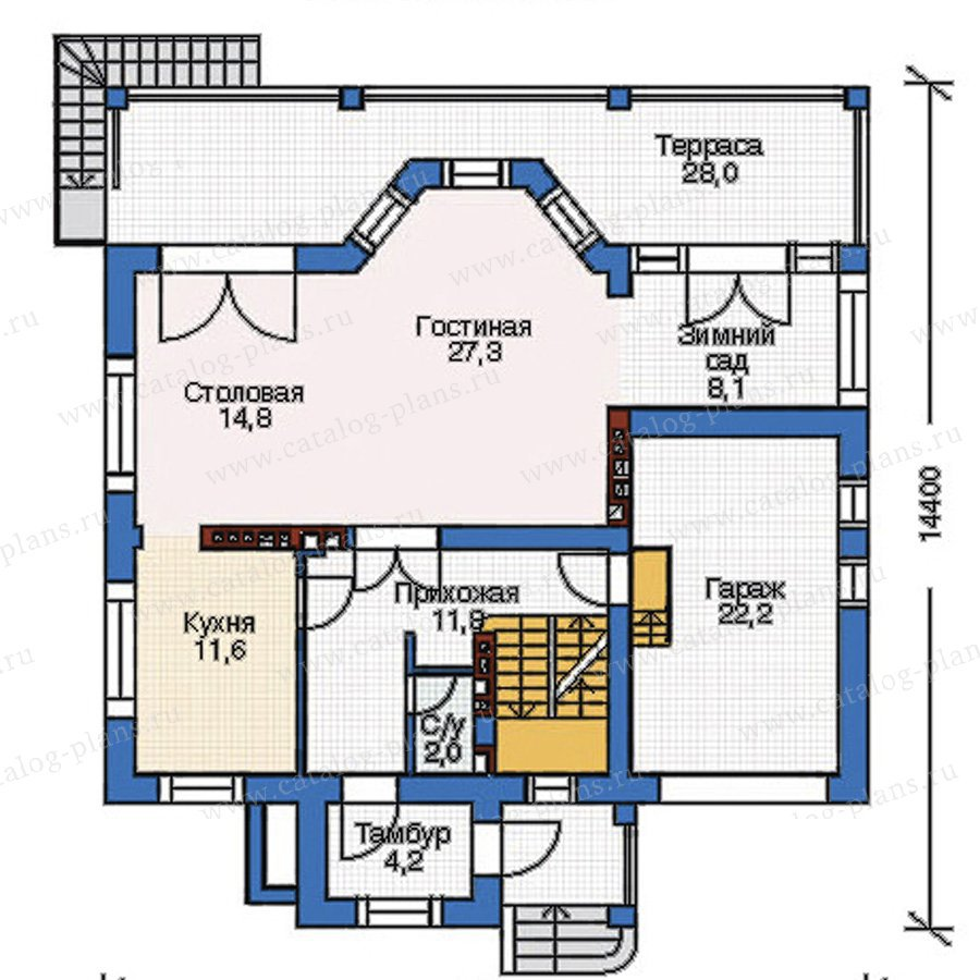 План 2-этажа проекта 52-96
