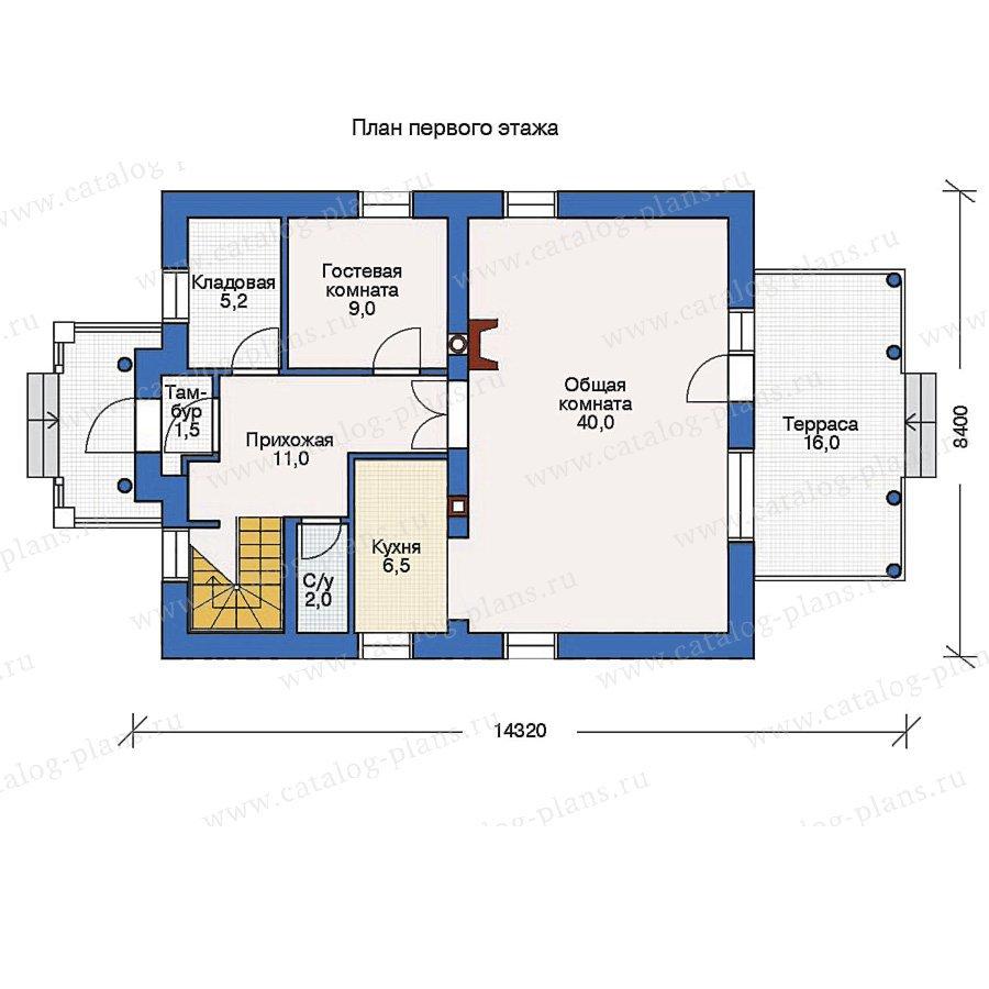План 1-этажа проекта 53-20