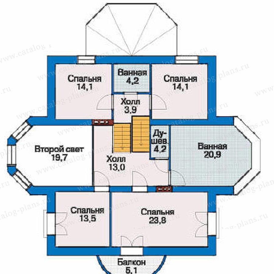 План 3-этажа проекта 53-28