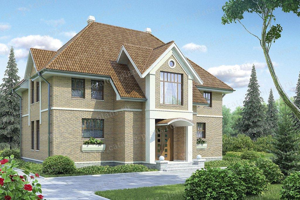 Проект жилой дом #53-36 материал - газобетон, стиль европейский