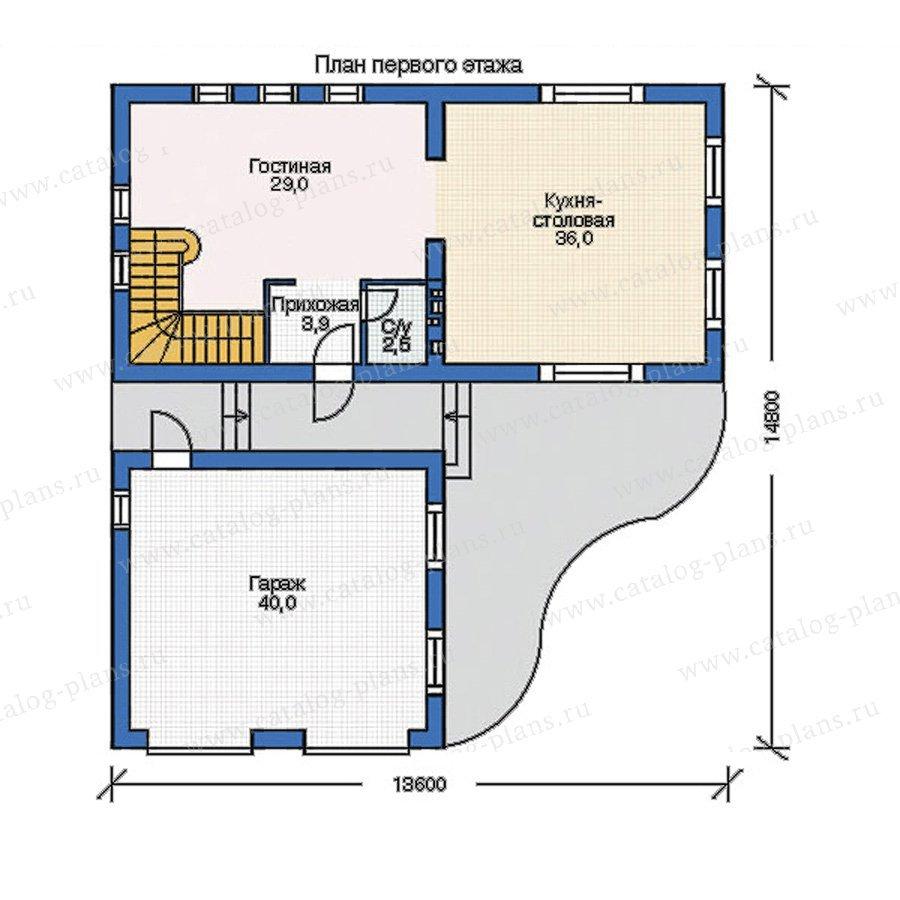 План 1-этажа проекта 52-95
