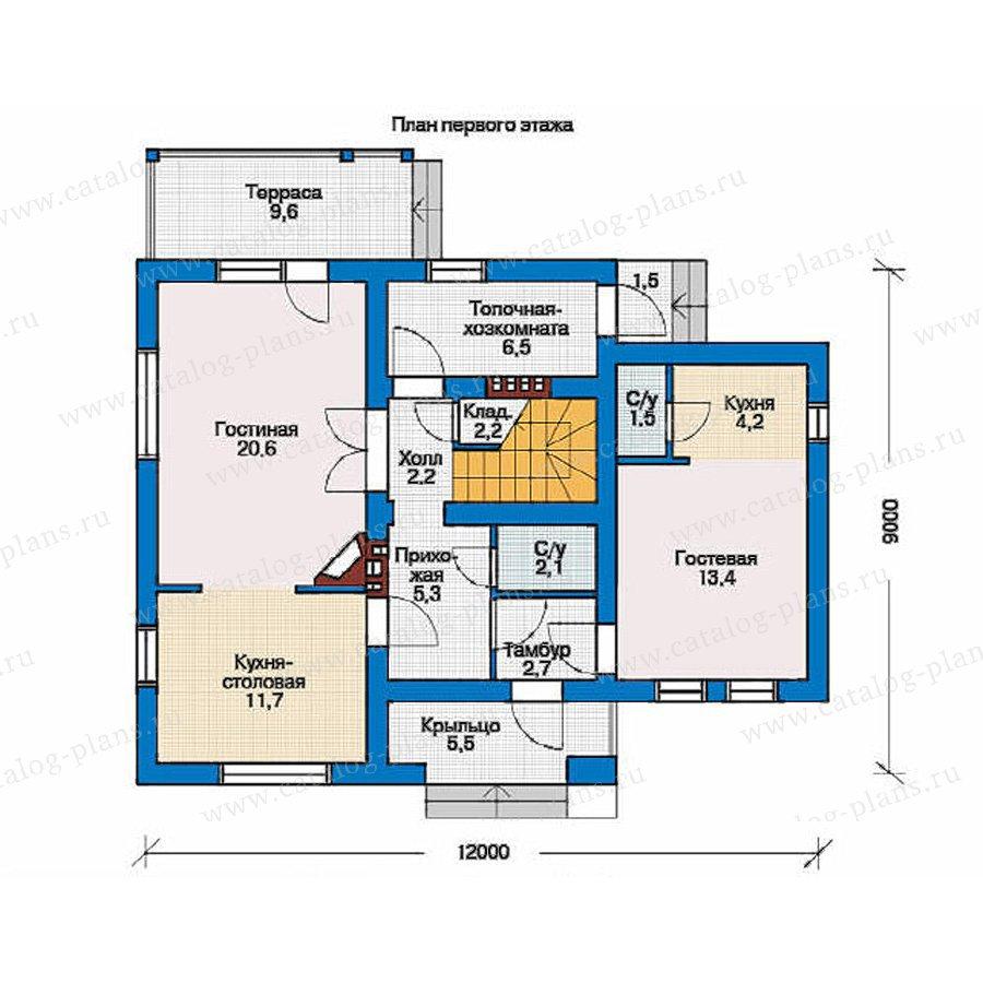 План 1-этажа проекта 53-96