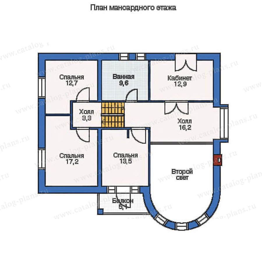 План 2-этажа проекта 53-06