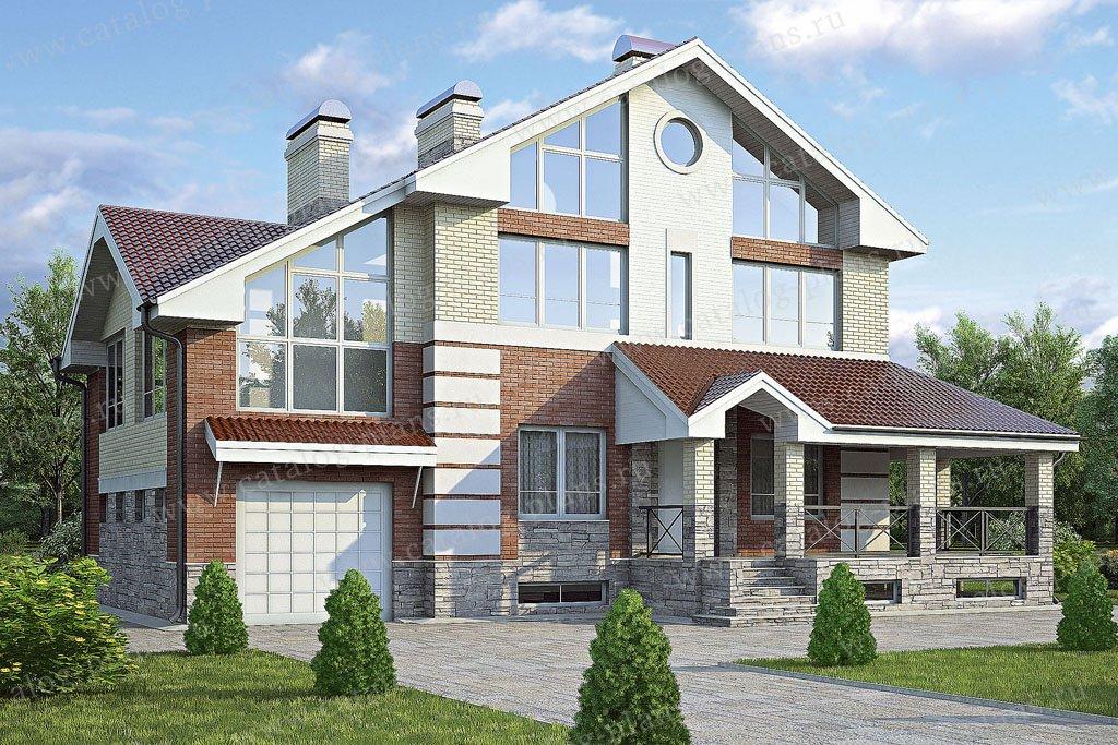 Проект жилой дом #53-74 материал - газобетон, стиль современный