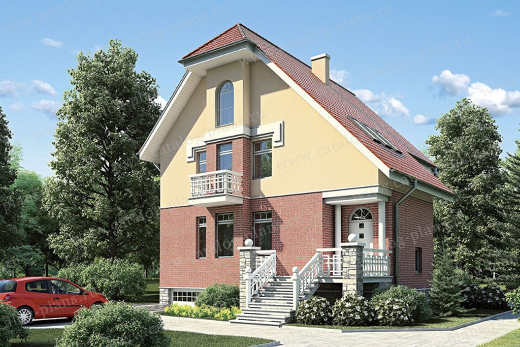 Проект жилой дом #53-08 материал - газобетон, стиль европейский