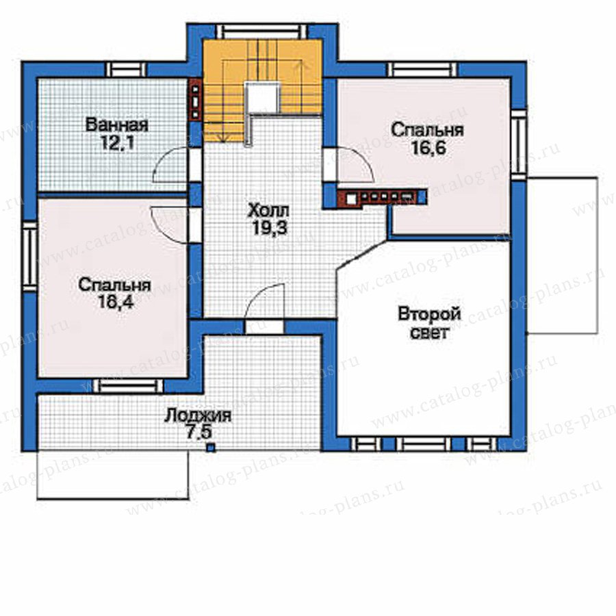 План 3-этажа проекта 53-55