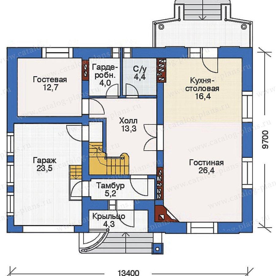 План 2-этажа проекта 53-73