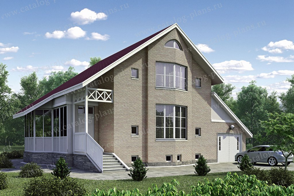 Проект жилой дом #53-05 материал - газобетон, стиль европейский