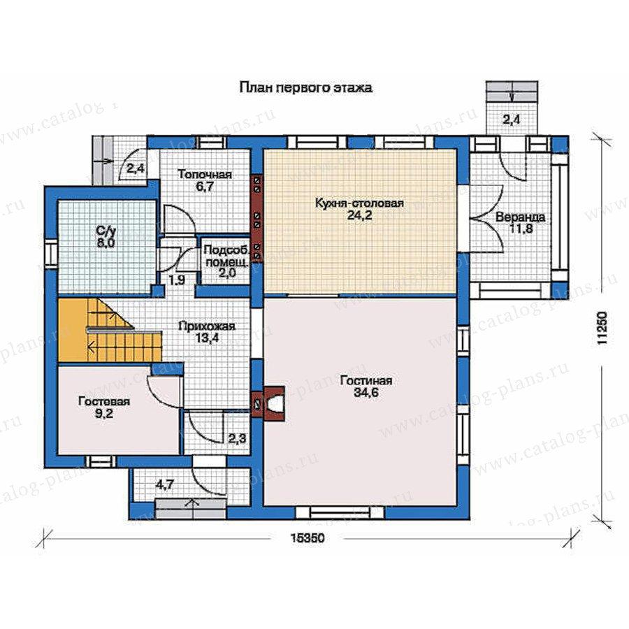 План 1-этажа проекта 53-00