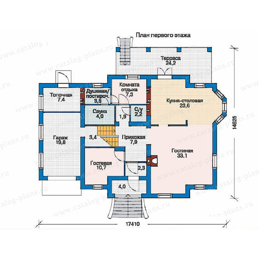 План 1-этажа проекта 53-13