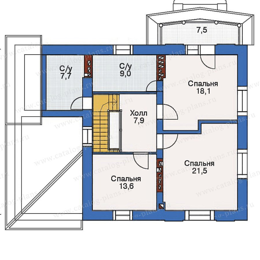 План 3-этажа проекта 53-73