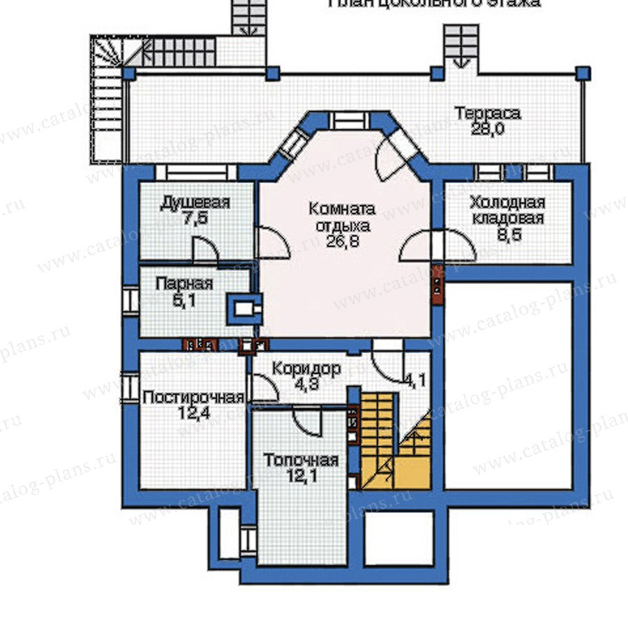 План 1-этажа проекта 52-96