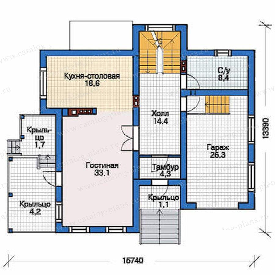 План 2-этажа проекта 53-60
