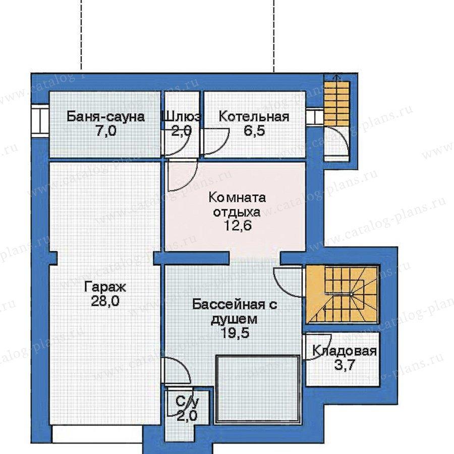 План 1-этажа проекта 52-90