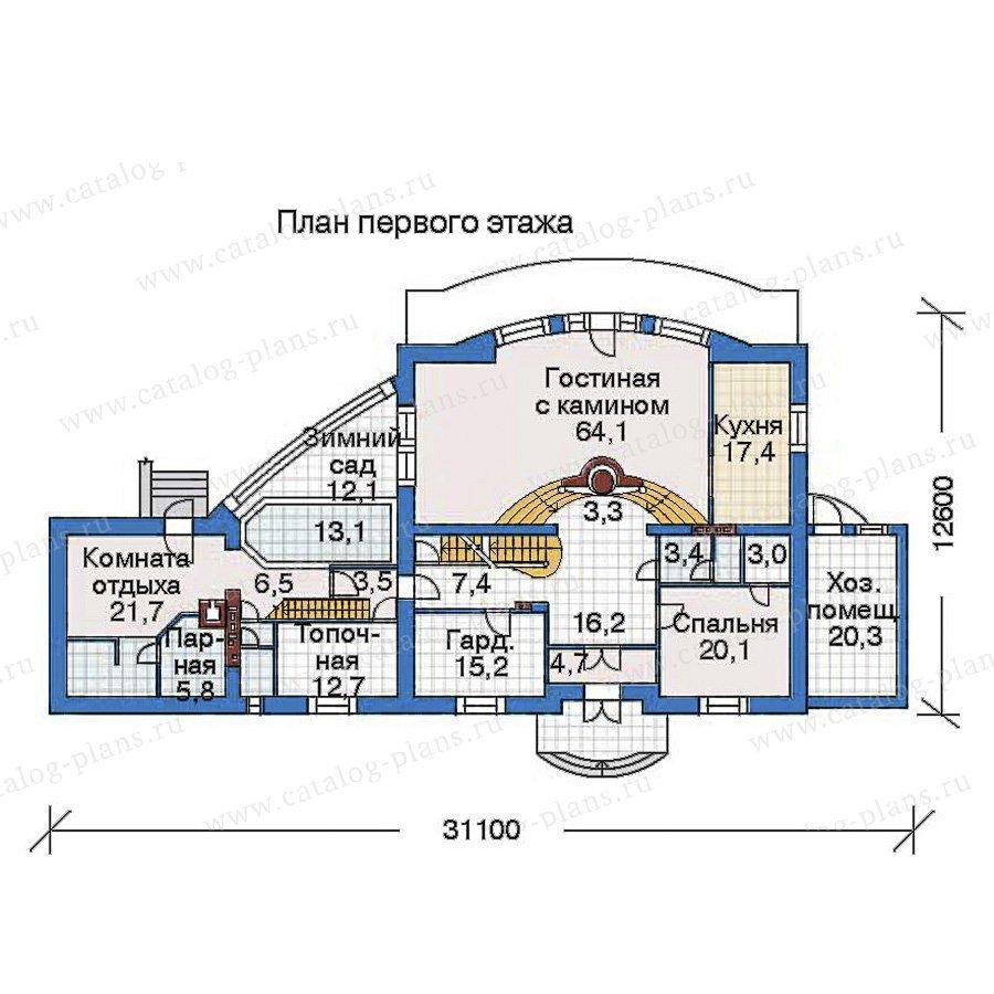 План 2-этажа проекта 52-92