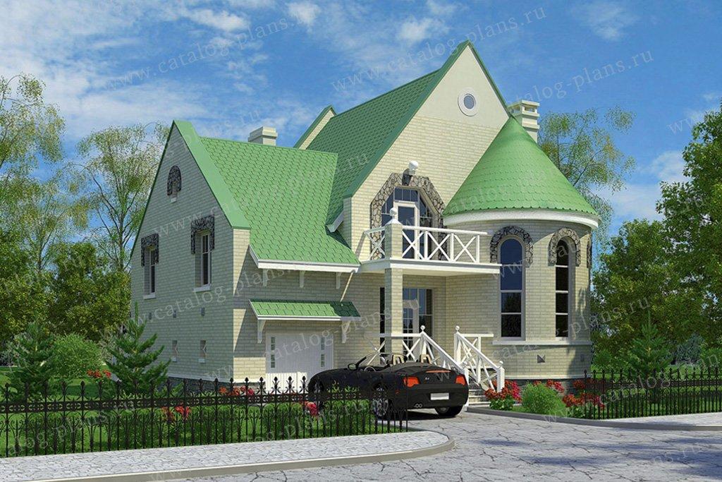 Проект жилой дом #53-06 материал - газобетон, стиль средневековый
