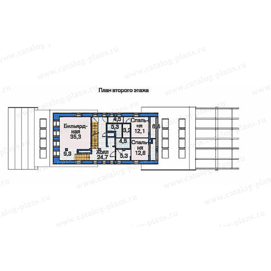 План 3-этажа проекта 53-72
