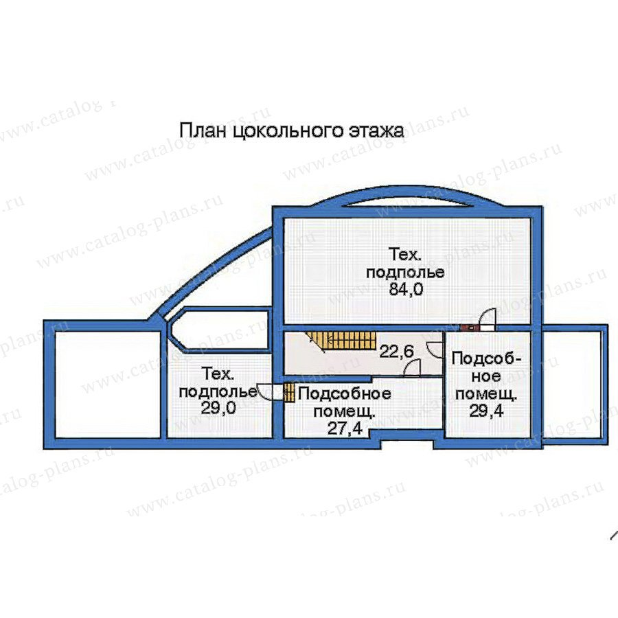 План 1-этажа проекта 52-92