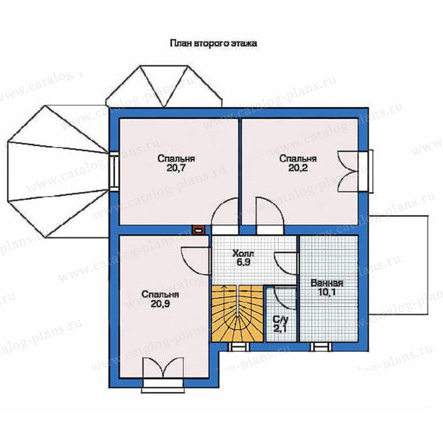 План 2-этажа проекта 53-23
