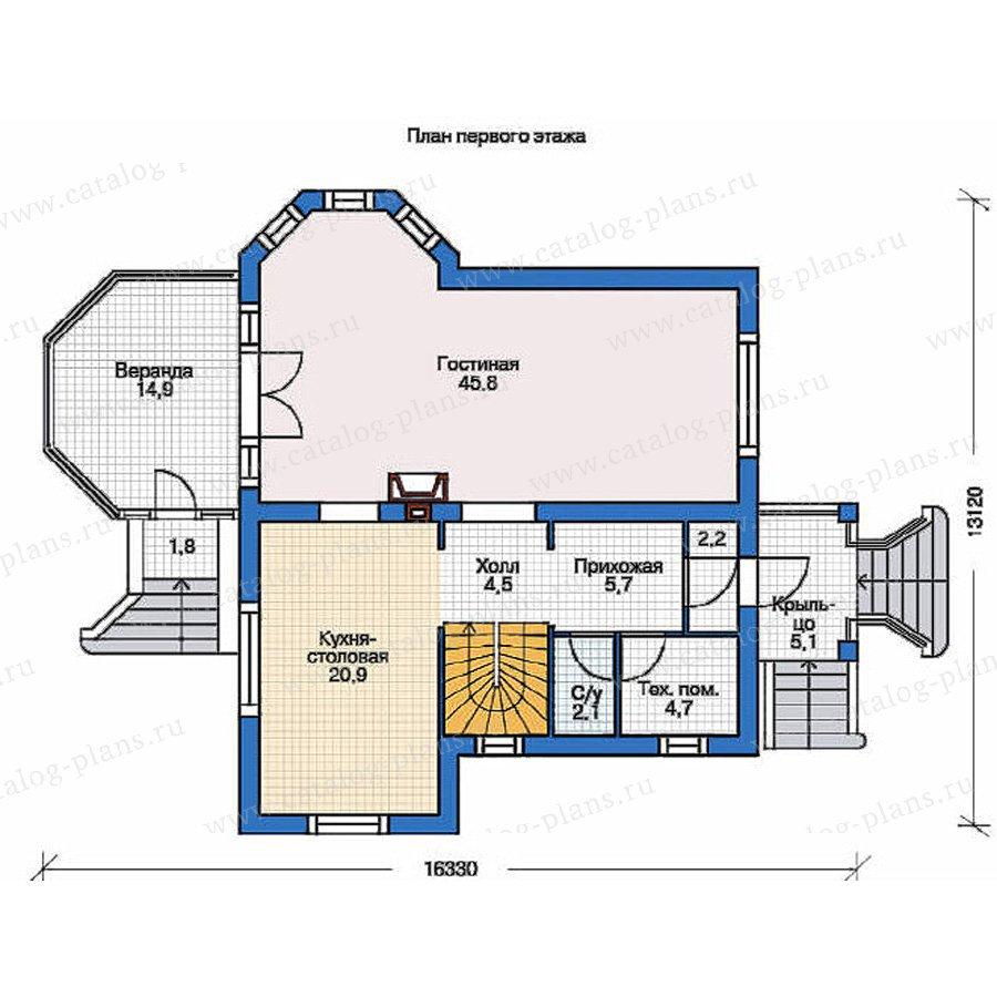 План 1-этажа проекта 53-23
