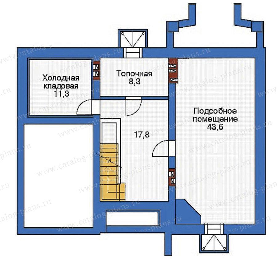 План 1-этажа проекта 53-73