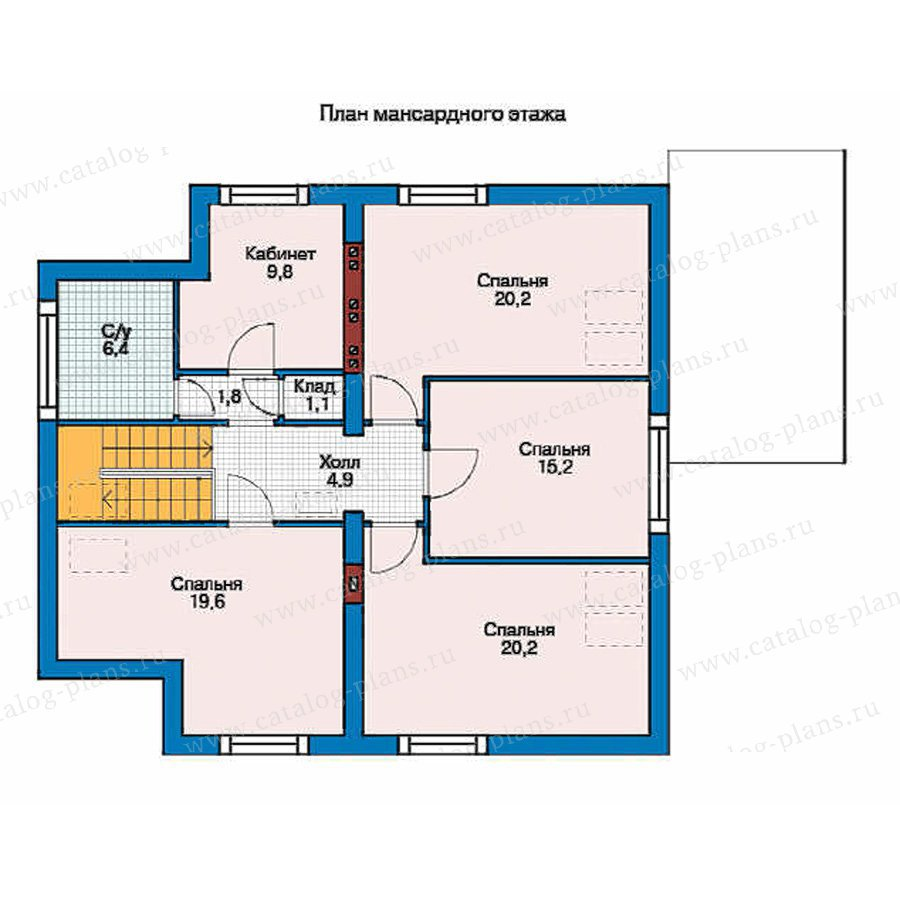 План 2-этажа проекта 53-00