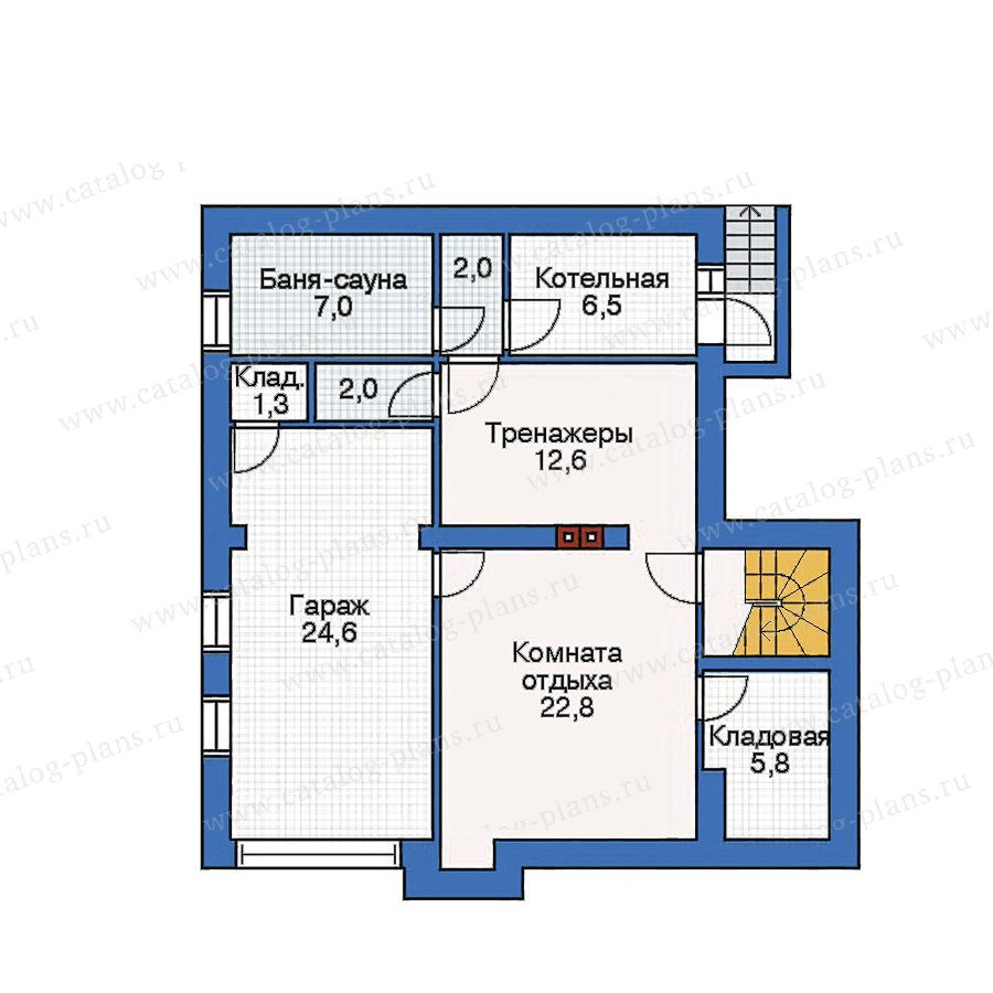 План 1-этажа проекта 53-08