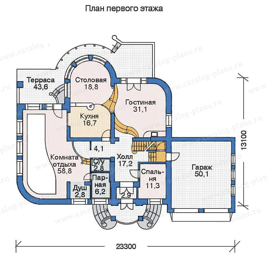 План 2-этажа проекта 52-99