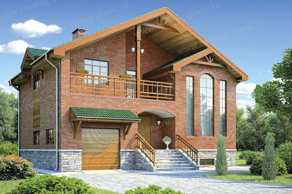 Проект жилой дом #53-55 материал - газобетон, стиль европейский