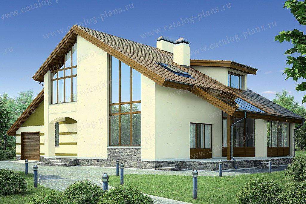 Проект жилой дом #53-46 материал - газобетон, стиль современный