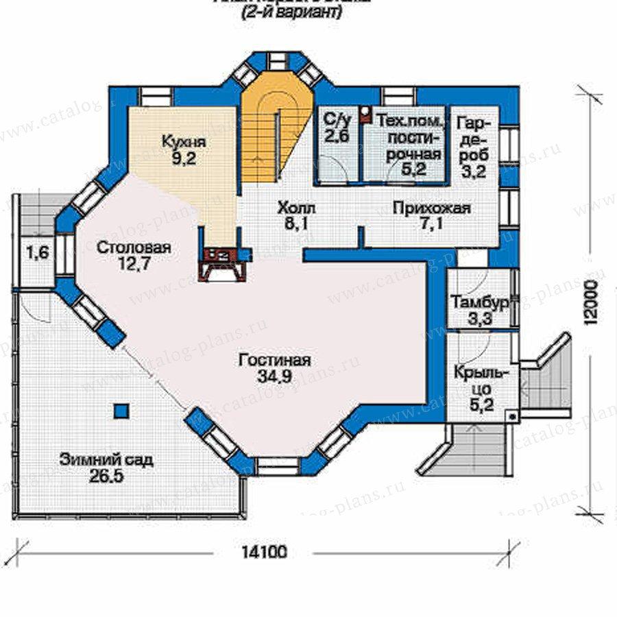 План 2-этажа проекта 53-78