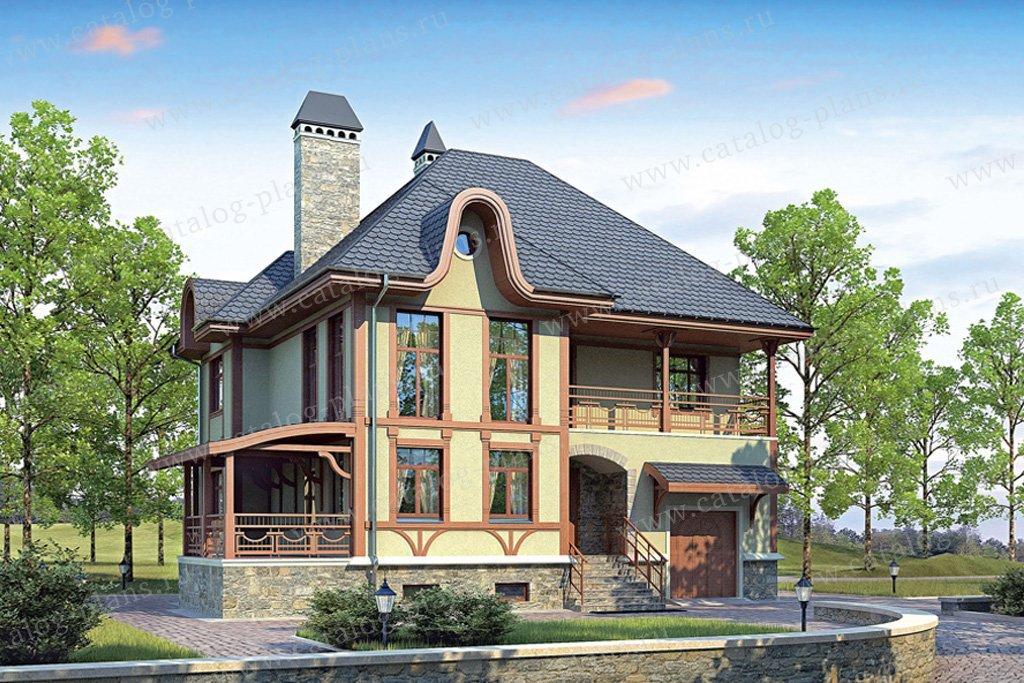 Проект жилой дом #53-60 материал - газобетон, стиль модерн
