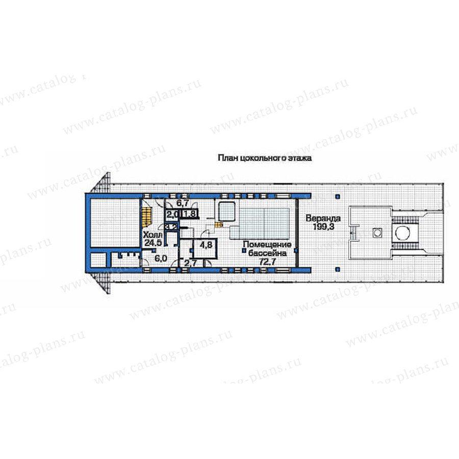 План 1-этажа проекта 53-72