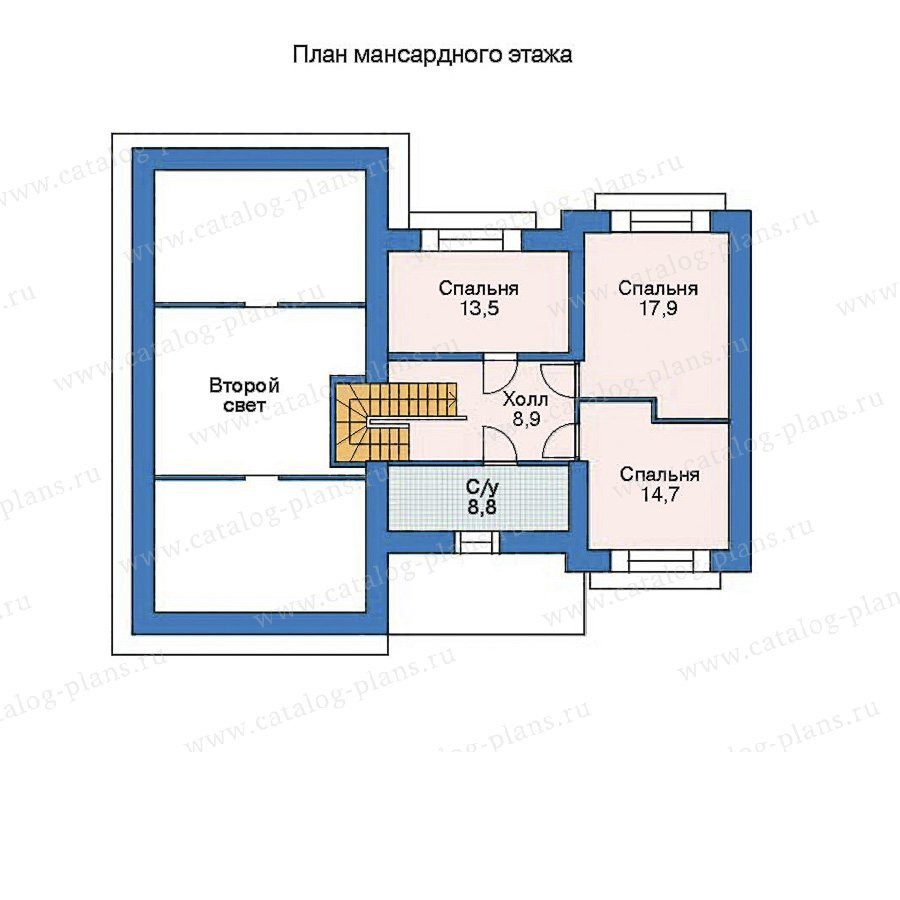 План 2-этажа проекта 52-91