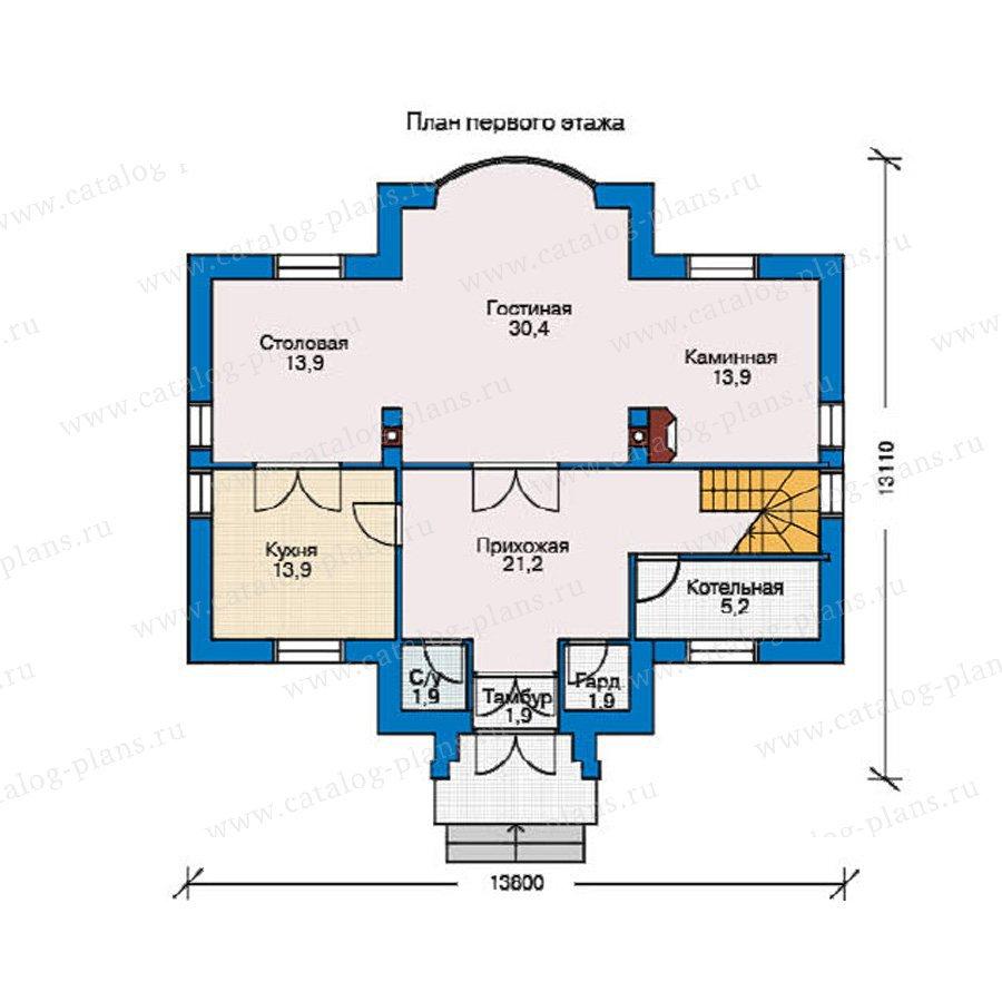 План 1-этажа проекта 53-36
