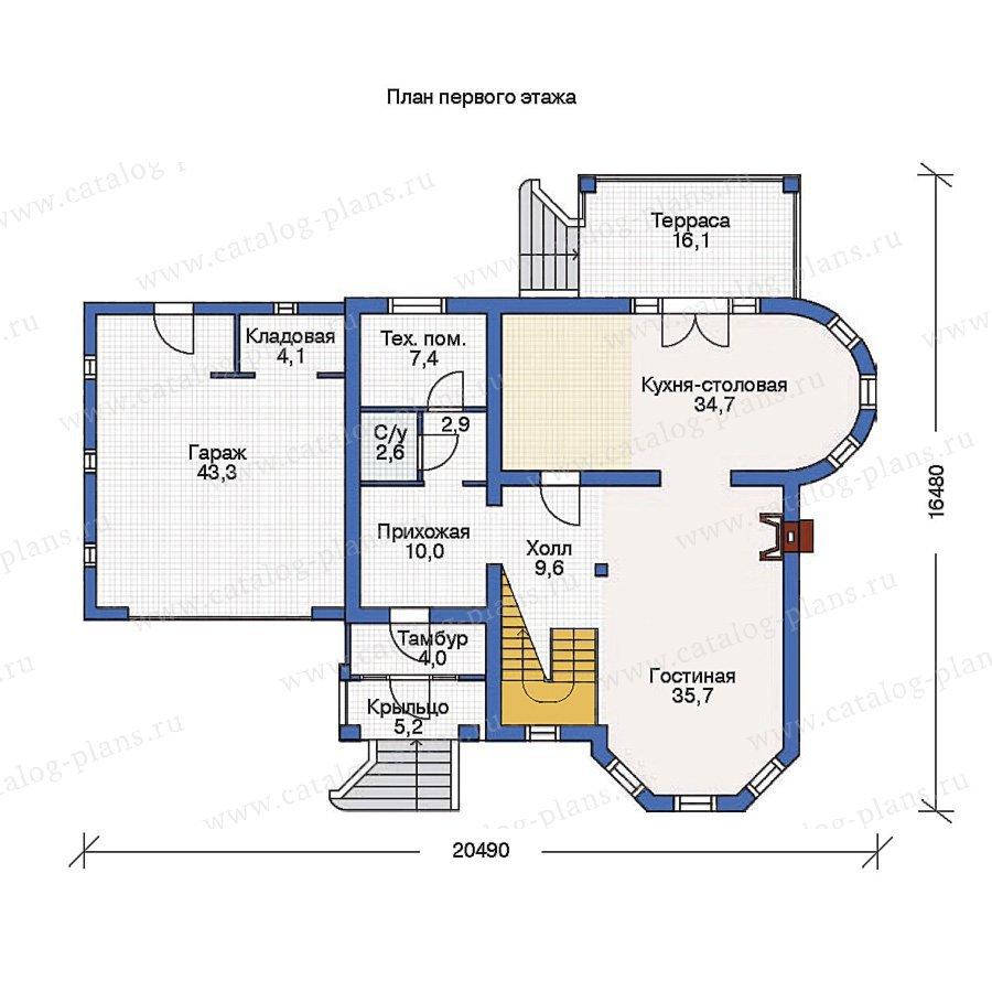 План 1-этажа проекта 53-24