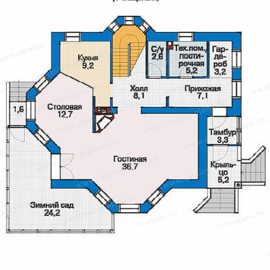 План 1-этажа проекта 53-78