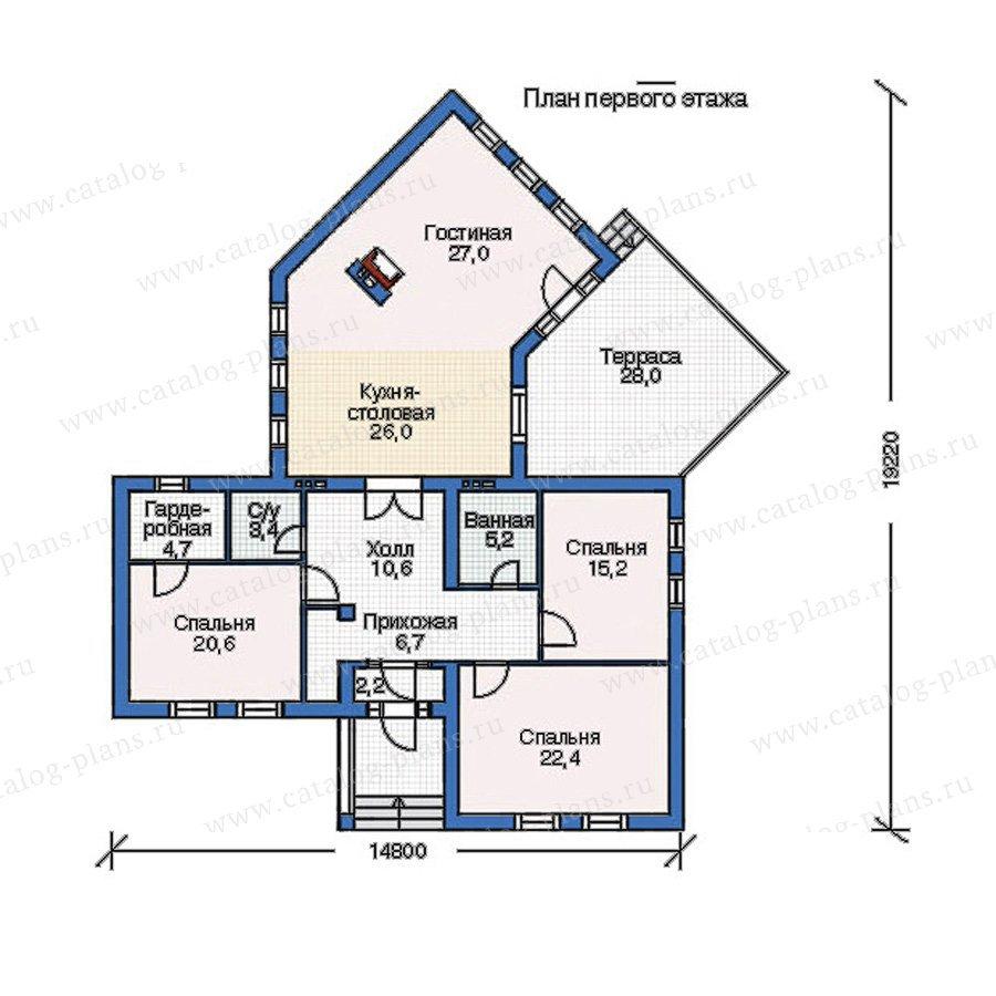 План 1-этажа проекта 52-93