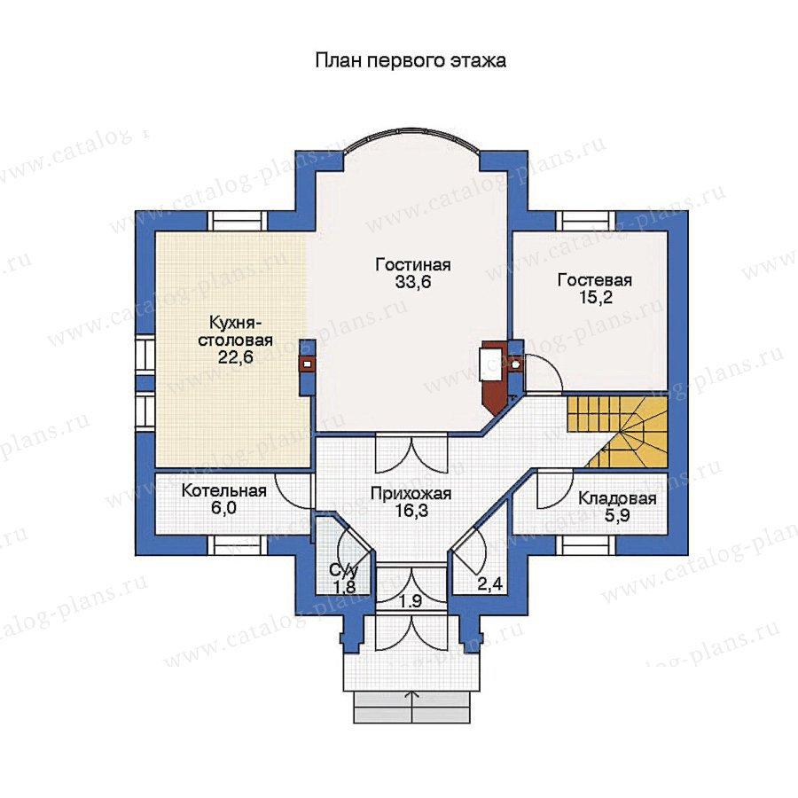 План 1-этажа проекта 53-19